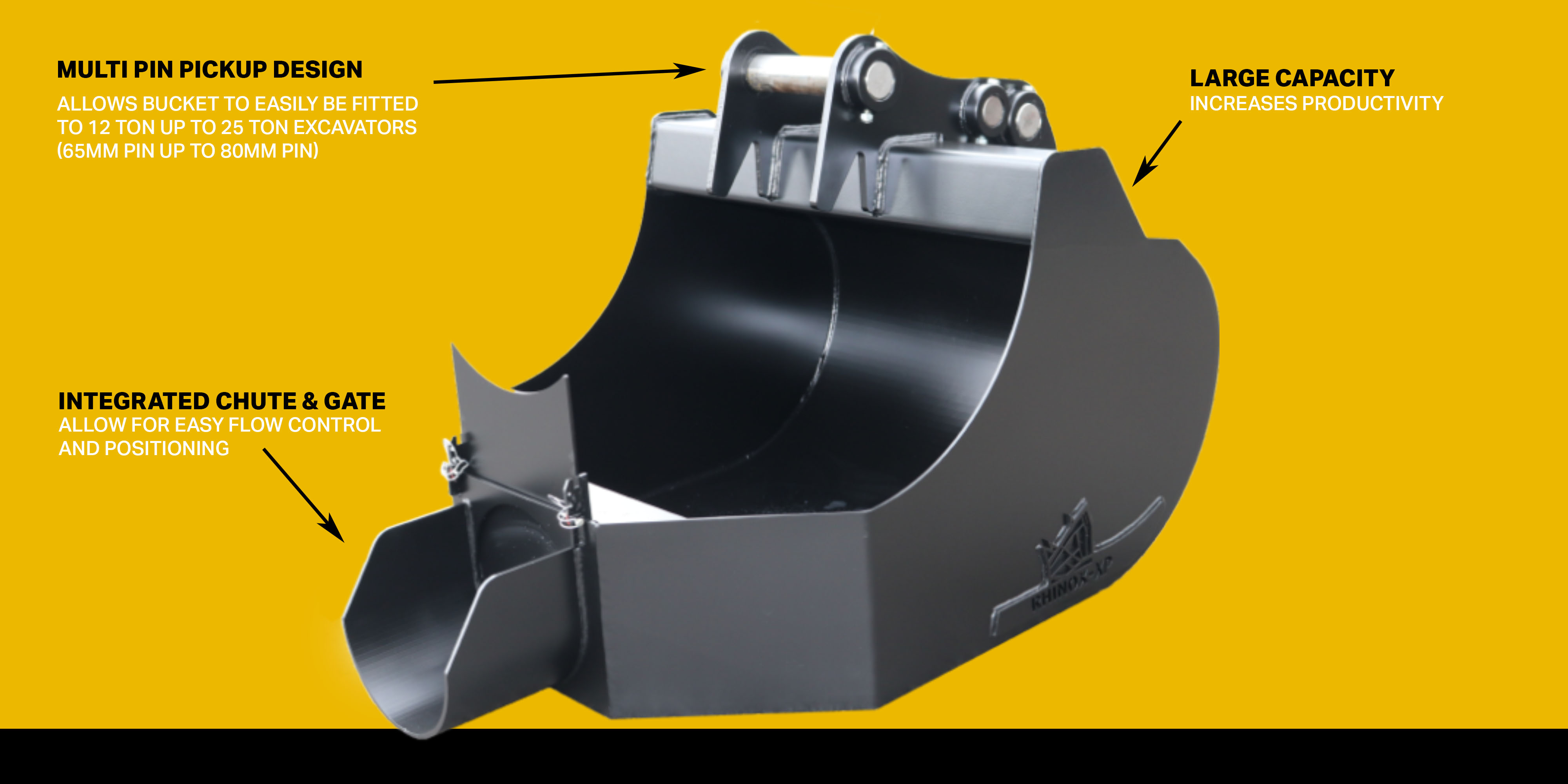 excavator concrete bucket features